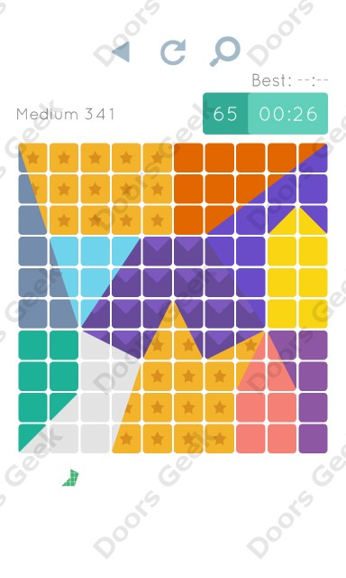 Cheats, Walkthrough for Blocks and Shapes Medium Level 341