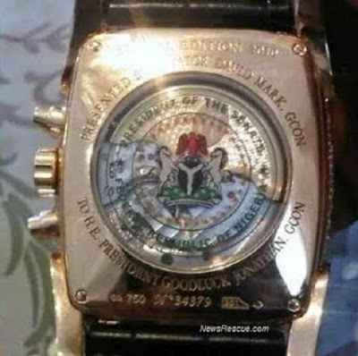 See the $200k solid gold customized watch David Mark allegedly gave Jonathan [photo]