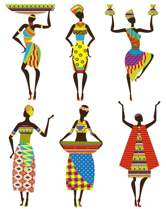 Africanas con trajes tribales