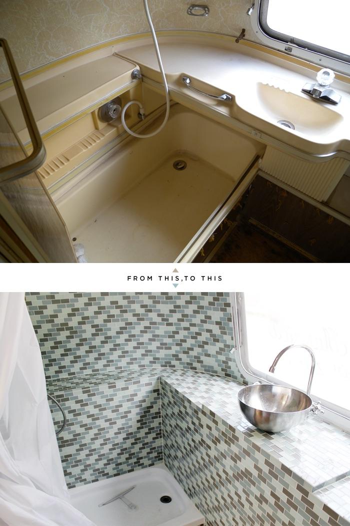 baño de caravana remodelado