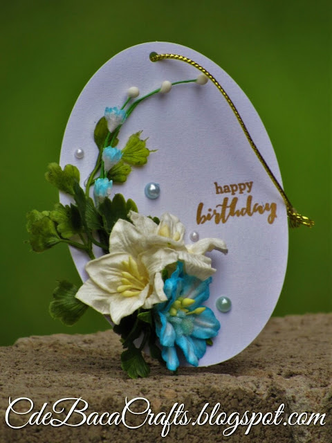 Happy birthday gift tags by CdeBaca Crafts handmade cards blog