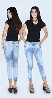 Celana Jeans Wanita Jogger