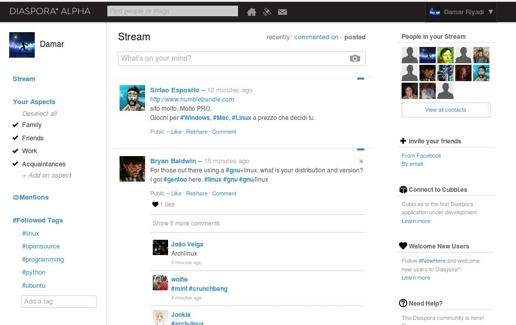 Diaspora Twitter Alternative Microblogging Website