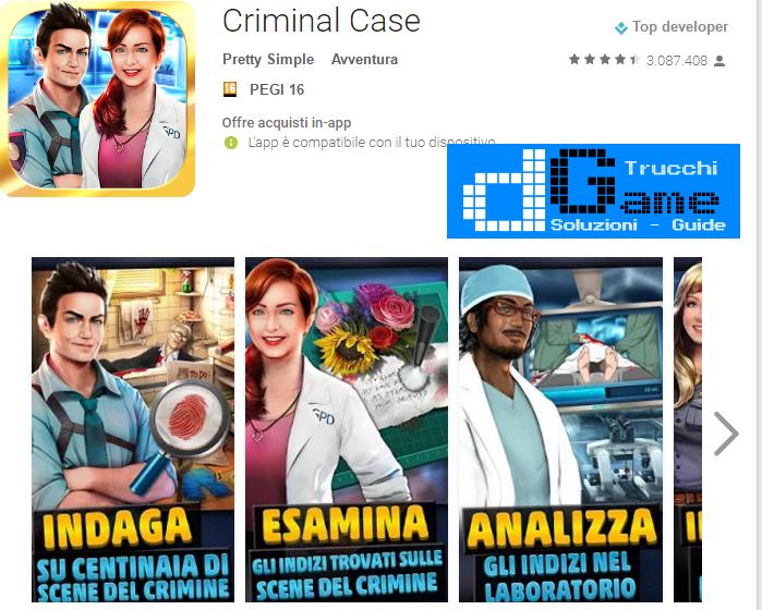 Trucchi Criminal Case Mod Apk Android v2.13