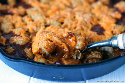Chili Tater Tot Casserole recipe from Served Up With Love