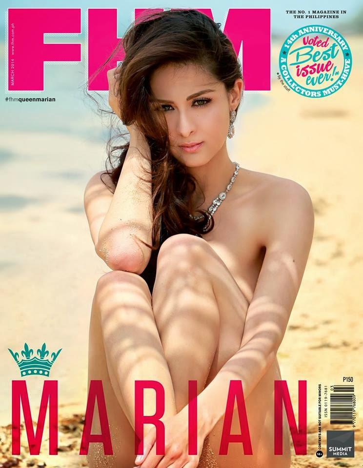 Marian Rivera graces FHM 14th Anniversary issue - March 2014