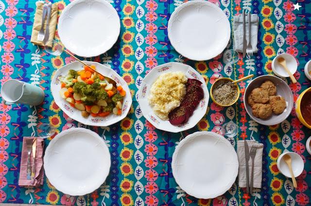 dîner vegan légumes vapeur manger sain