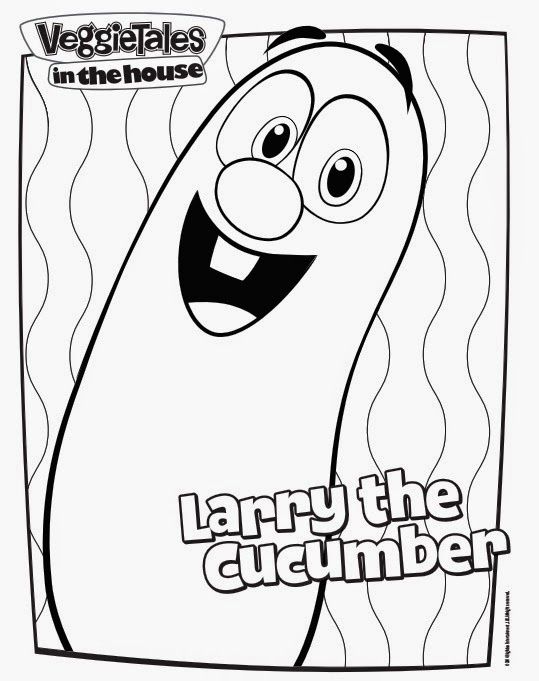 veggietales in the house larry the cucumber printable coloring page
