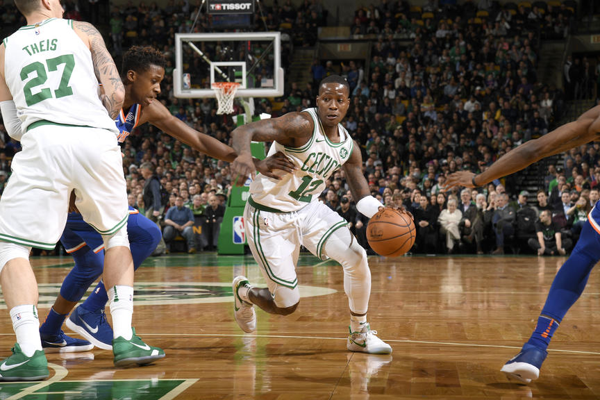 Image result for Boston's Terry Rozier notches triple-double in first career start