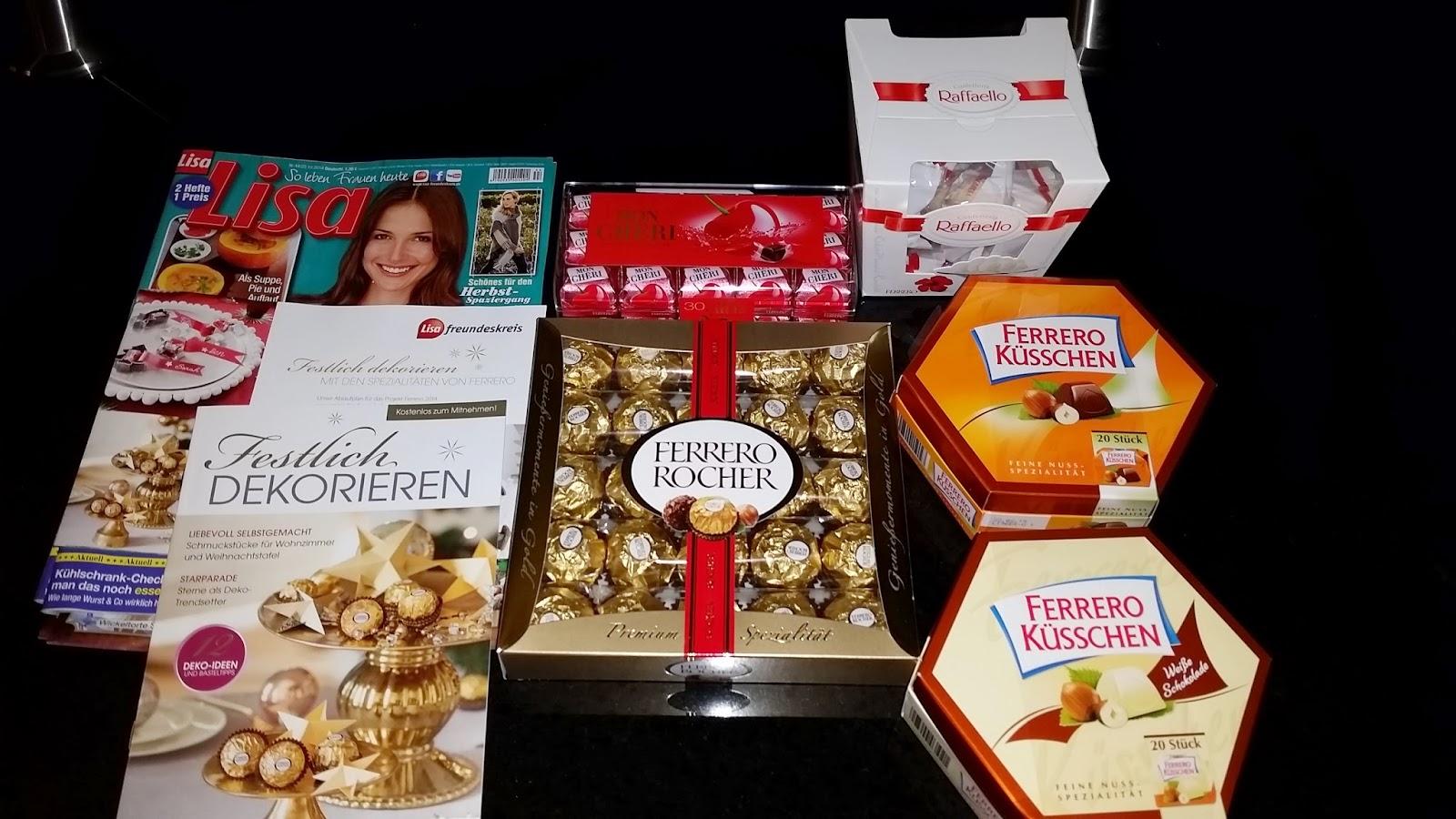 Weihnachtsdeko Ferrero.Speisenundreisentest 31 10 14 Basteln Mit Ferrero