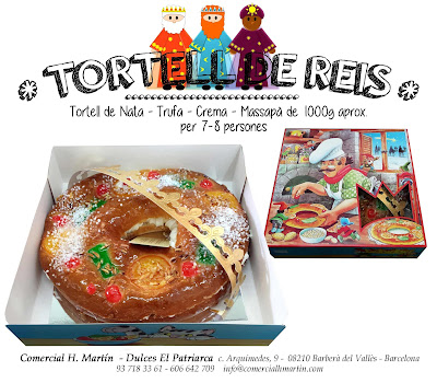 Roscón de Reyes - Tortell de Reis - Comercial H Martin