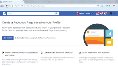 How To Convert Facebook Personal Profile Account To Facebook Page