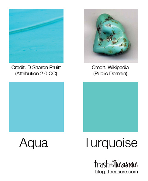 a36838641d7 What is the difference between turquoise , aqua and tiffany blue ?Are they  same colors ?