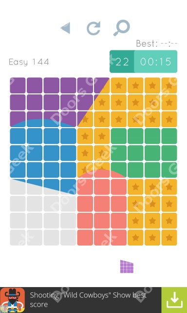 Cheats, Walkthrough for Blocks and Shapes Level 144