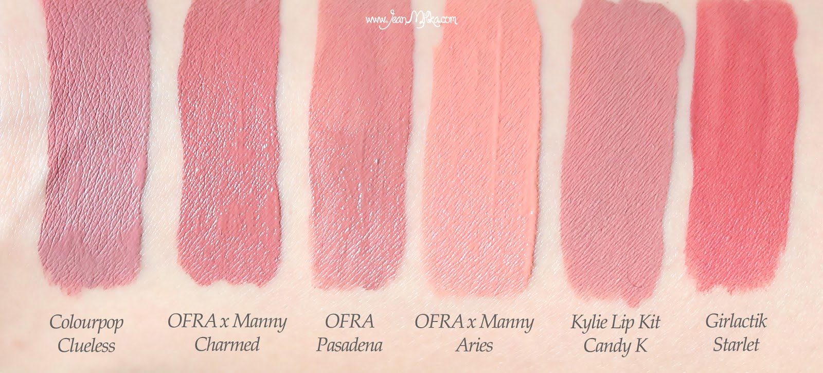 ofra x manny, ofraxmanny, ofra manny, ofra x manny mua, ofra, ofra cosmetics, ofra liquid lipstick, liquid lipstick, product review, swatches, beauty blog, colorpop, kylie lip kit, girlactik