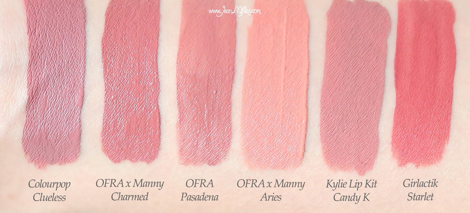 ofra x manny, ofraxmanny, ofra manny, ofra x manny mua, ofra, ofra cosmetics, ofra liquid lipstick, liquid lipstick, product review, swatches, beauty blog, colorpop, kylie lip kit, girlactik