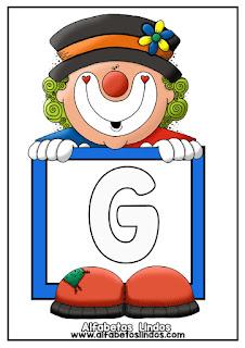 http://www.alfabetoslindos.com/2018/08/alfabeto-palhacinho-circo-letra-g.html