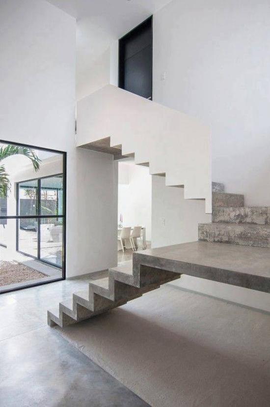8 contoh desain inspiratif tangga dari concrete beton