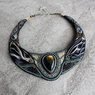 naszyjnik z labradorytem, labradorite necklace