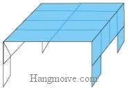 Bước 11: Hoàn thành cách gấp cái bàn bằng giấy.