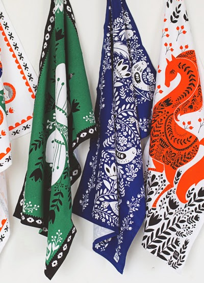 mirdinara kitchen is a new line of tea towels designed by dinara mirtalipova who is originally from uzbekistan but is now based in ohio - Kitchen Towels New Design
