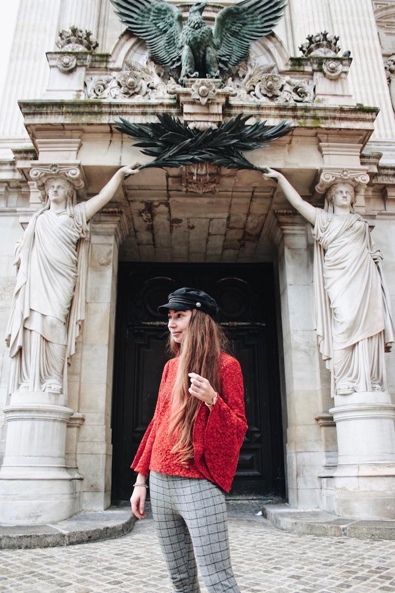 street style blog mode tendance prince de galle dentelle rouge