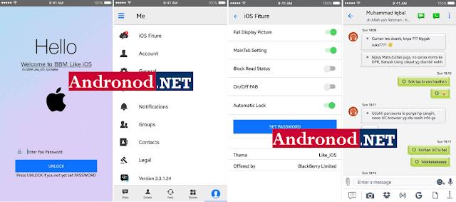 BBM Mod Like iOS v3.3.1.24 Apk Terbaru