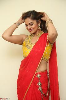 Actress Ashwini in Golden choli Red saree Spicy Pics ~  046.JPG