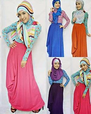Dress muslim panjang untuk remaja muslimah