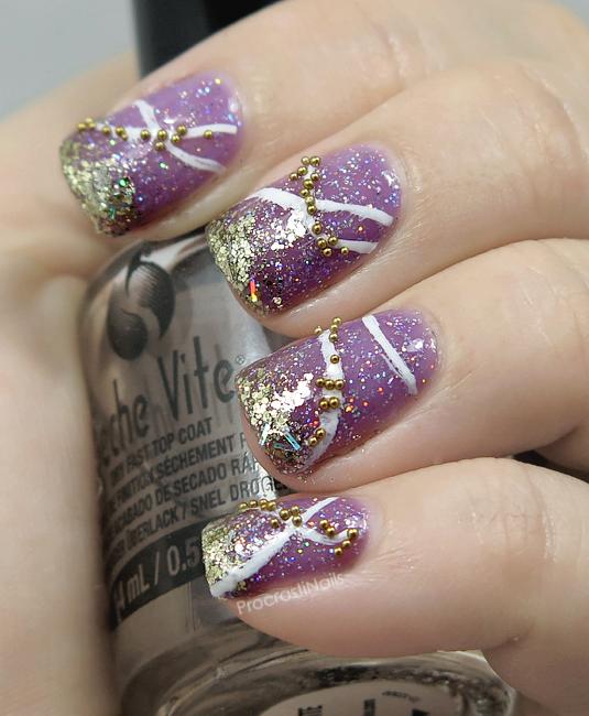Nail Art The Digit Al Dozen Does All That Glitters Glitter Nail