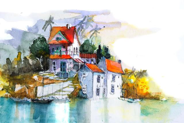 Malen Urlaub Urban Sketching Tine Klein