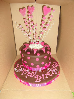 pink spotty birthday cake