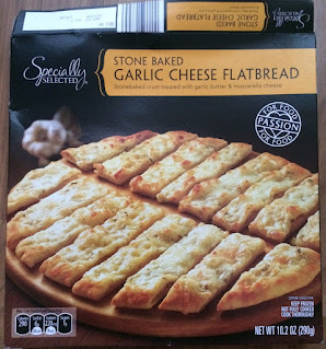 Box of Specially Selected Stone Baked Garlic Cheese Flatbread, from Aldi