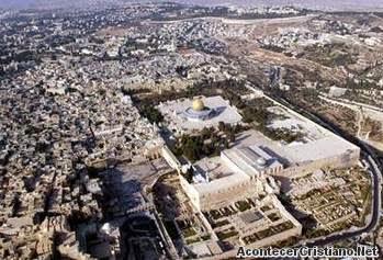 Vista aérea de la ciudad vieja de Jerusalén