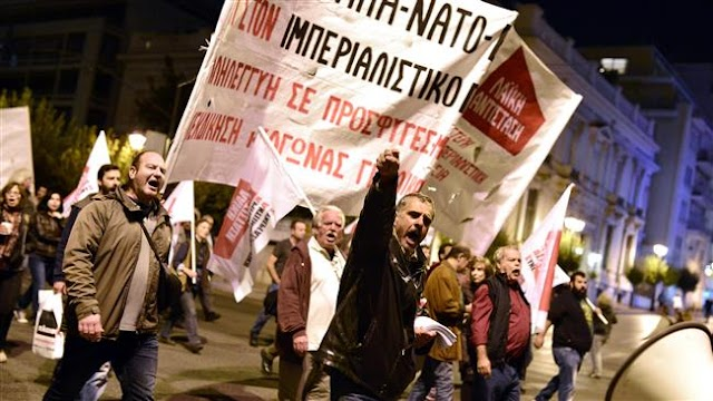 Thousands of protesters in Greek capital of Athens denounce NATO