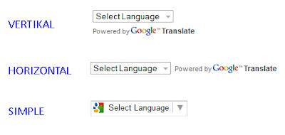Cara Menambahkan Widget Google Translate Pada Blog