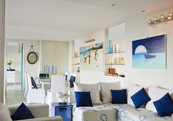 Salas estilo marinero salas con estilo - Muebles para apartamentos de playa ...