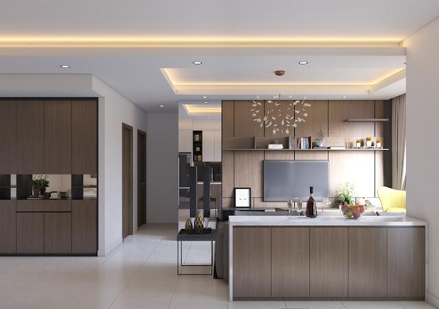 phòng bếp tại căn hộ TNR Star