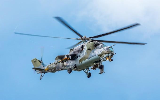 Papel de Parede Helicóptero Mil Mi 24