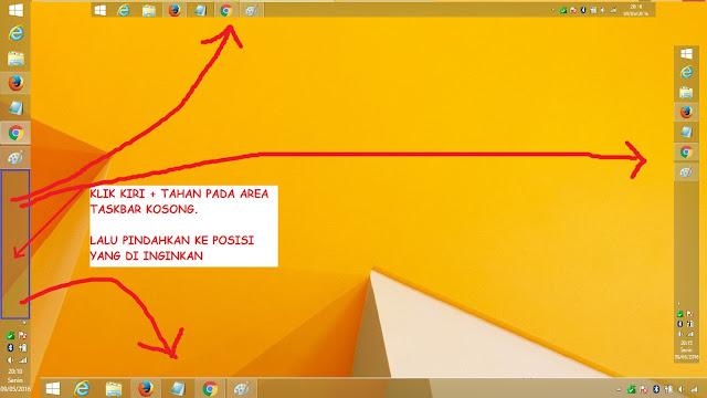 Cara Merubah Posisi Taskbar Windows