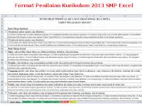 Pdf Format Nilai Kurikulum 2013 Tingkat SMP