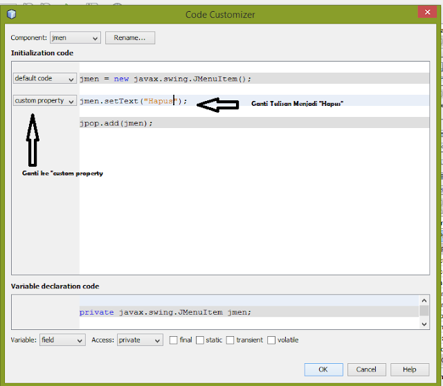 3 - Tutorial Java - Membuat Menu Popup dan Hide/Show Kolom Pada Jtable