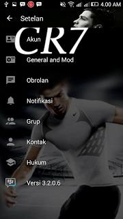 BBM Mod Cristiano Ronaldo Full DP Transparant v3.2.0.6 Apk Terbaru