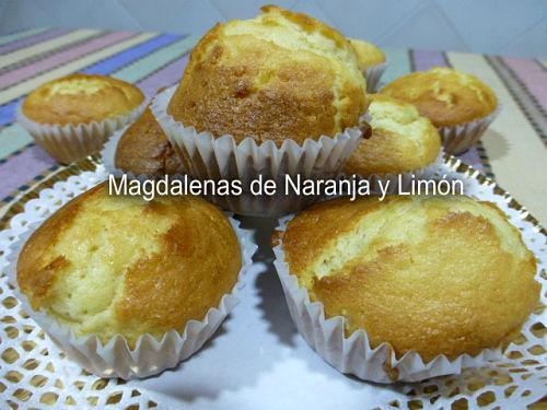 Magdalenas de naranja y limón