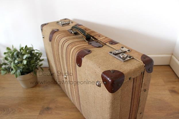 Comprar maleta vintage de tela para decoración