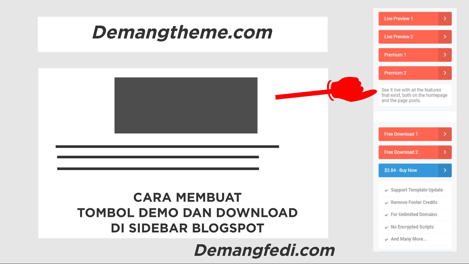 Cara Membuat Tombol / Button Demo dan Download Di Sidebar Blogspot