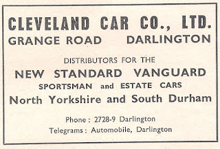 Cleveland CarCo Ltd, Darlington advert Motor05-09-1956