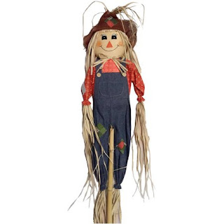 5' Scarecrow Fall Harvest Halloween Decoration