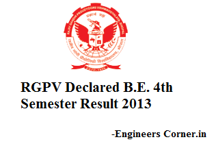 RGPV B E 4th Sem Result Declared 2013 - Engineers Corner