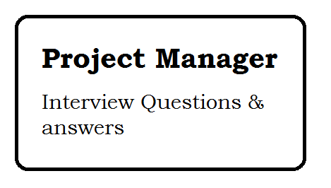Web Development Project Manager interview questions and answers